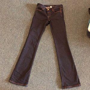 Banana republic dark blue boot cut jeans 26